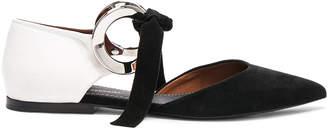 Proenza Schouler Suede Ankle Tie Flats