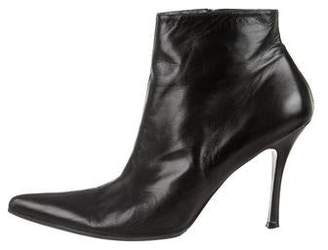 Rene Caovilla Leather Pointed-Toe Booties