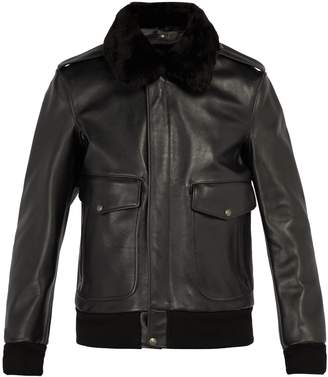 Schott Flight detachable-collar leather jacket