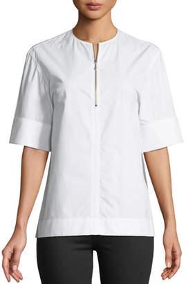 Joseph Briar Quarter-Zip Poplin Shirt