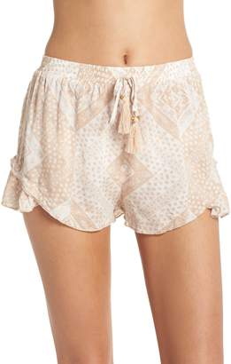 Surf Gypsy Tassel Trim Cover-Up Shorts