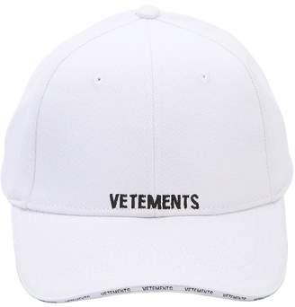 Vetements Logo Detail Cotton Hat