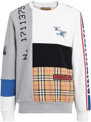 Burberry Archive Logo Panelled Cotton Sweatshirt