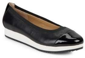 Adrienne Vittadini Gilsa Leather Slip-On Sneakers