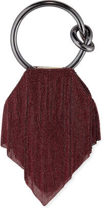 Benedetta Bruzziches Casper Metal Mesh Clutch Bag, Dark Magenta/Rose