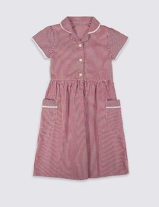 Marks and Spencer Girls' Easy Dressing Gingham Dress