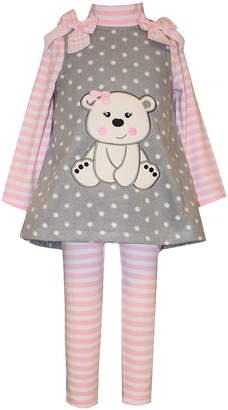 Bonnie Jean Long Sleeve 3pc Set- Baby Girls