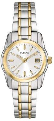 Bulova Ladies' Classic Two-Tone Stainless Steel Watch,??8M105 $250 thestylecure.com