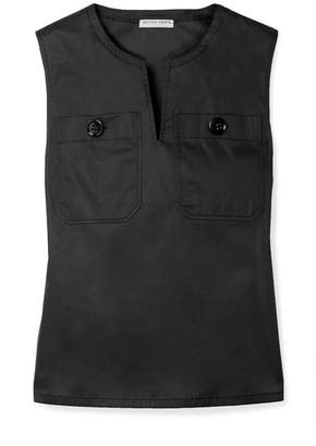 Bottega Veneta Cotton-blend Poplin Top - Black