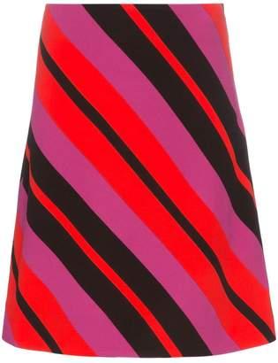 Marni diagonal stripe mini skirt