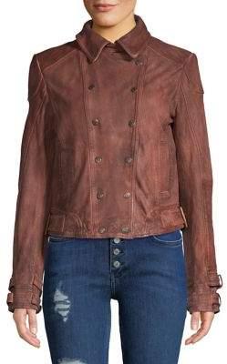 Free People Avis Leather Jacket