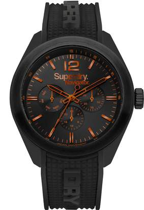 Superdry Men's 'Navigator Posh' Quartz Plastic and Silicone Casual Watch, Color: (Model: SYG215BB)