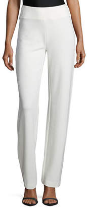 Joan Vass Plus Size Ponte Boot-Leg Pants