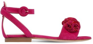 Aquazzura Desert Rose Suede Sandals