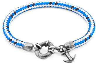 ANCHOR & CREW - Blue Dash Salcombe Silver & Rope Bracelet