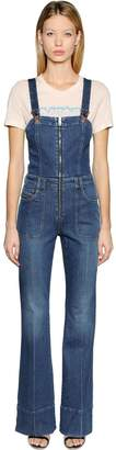Diesel Cotton Denim Wide Leg Overalls