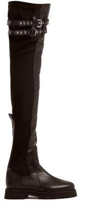 Marques Almeida MARQUES'ALMEIDA Leather over-the-knee boots