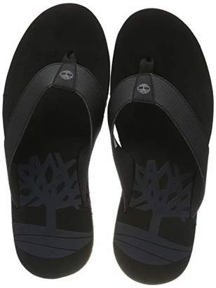 Timberland Men's Wild Dunes Synthetic Flip Flops, (Black Db0), 12.5 (47.5 EU)
