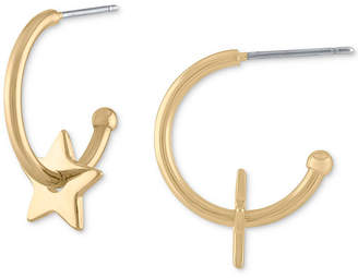 "Rachel Roy Gold-Tone 3/4"" Mini-Star Open Hoop Earrings"