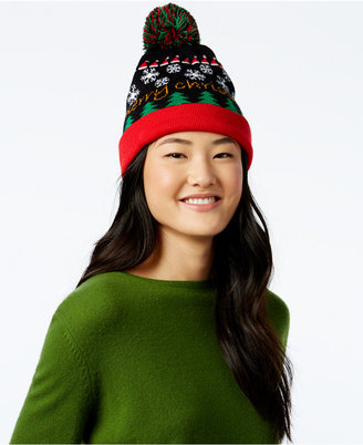 Planet Gold Juniors' Light-Up Snowflake Beanie Hat $24 thestylecure.com