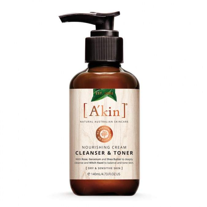 Akin A'kin Nourishing Cream Cleanser & Toner 140 mL