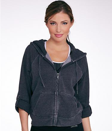 Calvin Klein Performance Mixed Media Hooded Sweatjacket