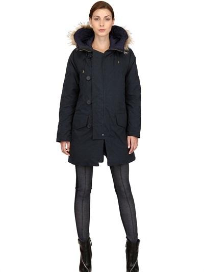 Kai-aakmann Fur & Cotton Nylon Reversible Parka Coat