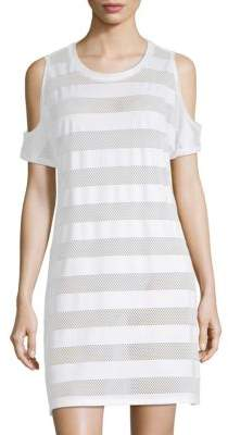 Calvin Klein Cold-Shoulder Mesh Cover-Up