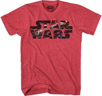 Star Wars Novelty T-Shirts Falcon Photo Fill Graphic Tee