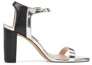 Nine West Nemble Metallic Ankle-Strap Sandals