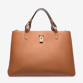 Bally Lauralie Brown, Women's calf leather top handle bag in tan