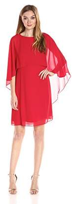 Vince Camuto Women's Souffle Mini Dress with Cape Overlay