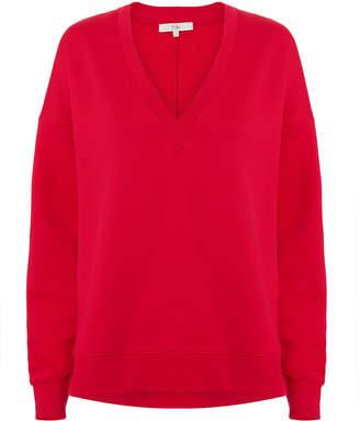 Tibi Slouchy Red Sweatshirt