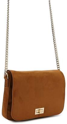 Forever 21 Chain-Strap Faux Suede Crossbody