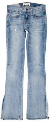 Elizabeth and James Textiles x Distressed Mid-Rise Straight-Leg Jeans
