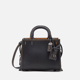 Coach 1941 Women's Glovetanned Pebble Rogue Shoulder Bag Black