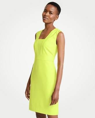 Ann Taylor Tall Seamed V-Neck Sheath Dress
