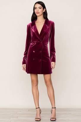 Yumi Kim Suit Up Velvet Dress