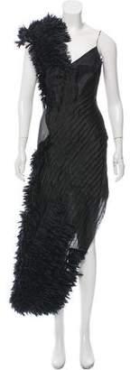Alexander McQueen 2001 Ruffle-Trimmed Evening Dress