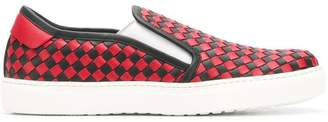 Bottega Veneta printed slip on trainers