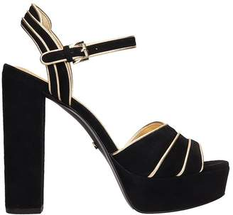 Michael Kors Black Suede Sandals