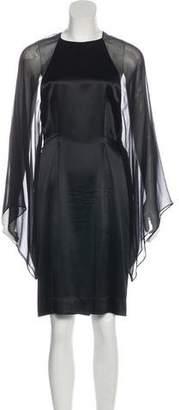 Thomas Wylde Bell Sleeve Midi Dress