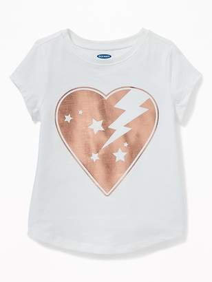 15ebe54cf Old Navy Graphic Crew-Neck Tee for Toddler Girls