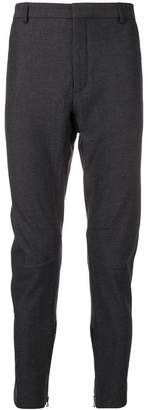 Lanvin zipped cuff skinny fit trousers