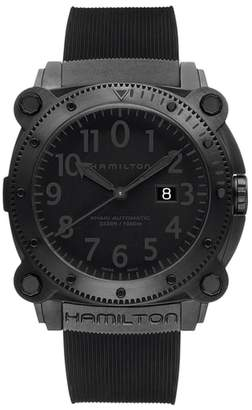 Hamilton Khaki BelowZero Automatic Rubber Strap Watch, 46mm