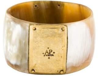 Ashley Pittman Horn & Brass Bangle Bracelet