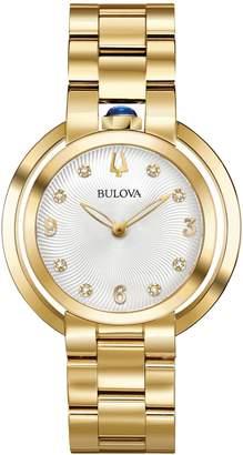 Bulova Rubaiyat Collection Goldtone Stainless Steel Link Bracelet Watch