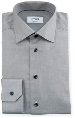 Eton Textured-Weave Dress Shirt