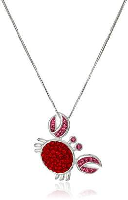 """Sterling Silver and Pink Crystal Lobster""""Pinch Me I'm Dreaming"""" Pendant Necklace"""