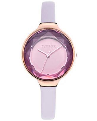 RumbaTime Women's 'Orchard Gem Leather' Quartz Stainless Steel Casual Watch
